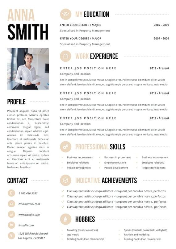 Resume Template | CV Template | Resume | CV Design | CV | Instant Download  Resume | Teacher Resume | Curriculum Vitae | Resume Templates  Pretty Resume Templates