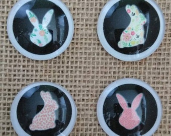 Hoppy Easter Magnets - Easter Bunny Magnets - Easter Egg Magnets