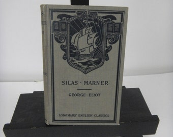 Vintage Book:  Silas Marner by George Eliot, gray vintage book, book collection, George Eliot, Silas Marner, small book, vintage library