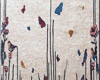 Flower Mural  Mosaic