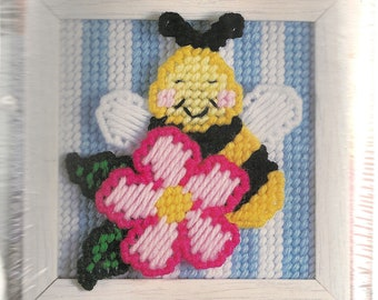 Framed Bumble Bee Plastic Canvas Kits