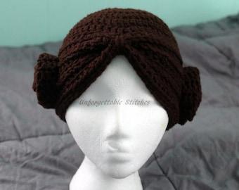 Crochet Princess Turban With Buns