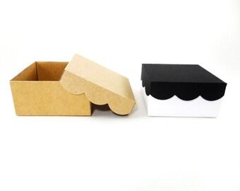 Scallop Box, Treat Box, Scallop Treat Boxes, Wedding Treat Box, Kraft Treat Box, Fancy Box, Wedding Supply, Favor Boxes, Cute Favor Boxes