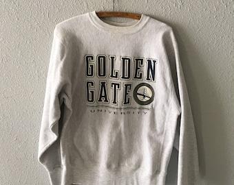 Vintage Golden Gate University 1990's 90's San Francisco California Sweatshirt