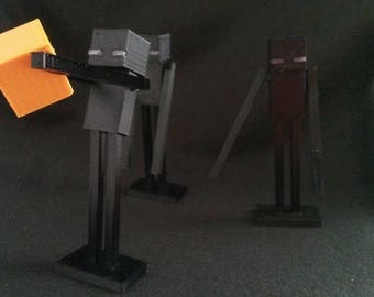 Enderman from Minecraft 3D printed