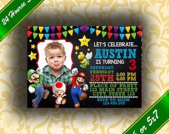 Super Mario Invitation, Super Mario Party, Super Mario Bros, Super Mario Birthday, Super Mario Invites, Super Mario Invitation