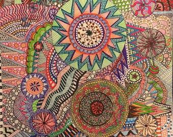 Colorful Zentangle
