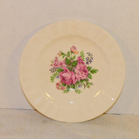 Edwin Knowles Bread Butter Plate Vintage Shabby Chic Rose Plate Fluted Dessert Plate Small China Plate Afternoon Tea Party Replacement China