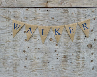 Personalized Name Banner -  Burlap Name Banner