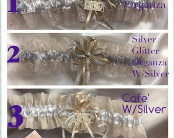 Taupe/Cafe Wedding or Prom Garter
