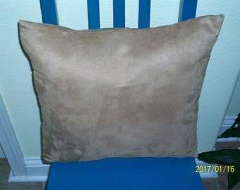 16x16 Brown Suede. Item (13) Pillow Cover Free Shipping