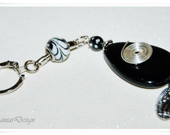 Key ring Madonna onyx Gemstone Hand Charmer