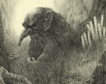 Troll: from Book One of Astromythos - Fine Art Print