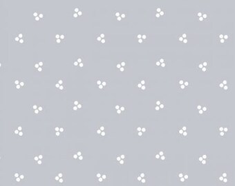 Madeline-Grey Dots - Clothworks -Cotton Fabric- Quilt -Apparel-WindyRobinCotton-Ships week of 3/19/2018- *Sold by half yard.