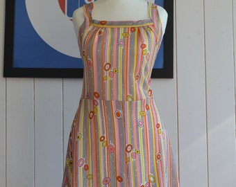 Gorgeous Psychedelic Multi Colour 60's 70's sun dress Size 10