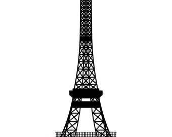 Eiffel Tower - Vinyl, Wall Art, Graphics, Decals, Stickers, Abstract, Geometric