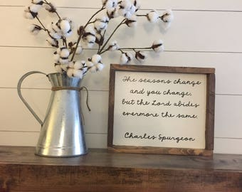 Charles Spurgeon quote wood sign