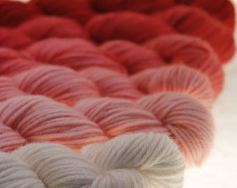 Mini Skein Ombre Gradient Yarn Choose Your Base -  Romance Me