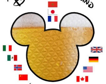 Disney Drinking Around the World Beer Mickey INSTANT Download Printable Iron on Transfer Design ~ INSTANT DOWNLOAD ~