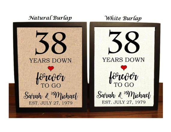 Gift For 13th Wedding Anniversary: 38th Anniversary Gift 38th Wedding Anniversary Gift Gift