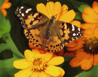 Butterfly Orange and Yellow