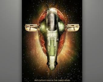 "Star Wars Inspired ""Boba Fett's Slave I: Vehicle Series"" Herofied Slave 1 Slave One"