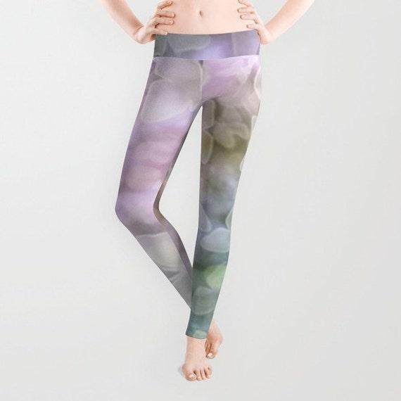Butterfly Leggings, Lilac Teal Yoga Pants, Unique Fashion, Bokeh Yoga Leggings, Women, Teen Active Wear, Running Pants, Jogging Pants, Surf