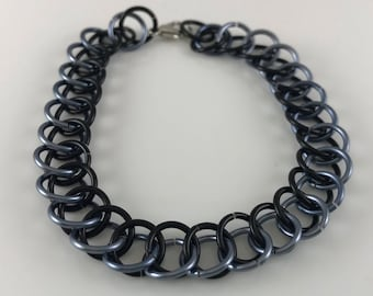 Sale 25% off Gray and Black Half Persian Chainmaille Bracelet