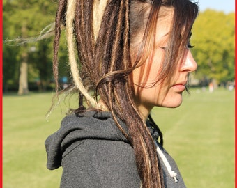 Brown & Blonde Dreads Falls. 20 Inches.
