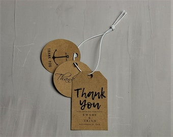 Handwritten Thank You Tag Template