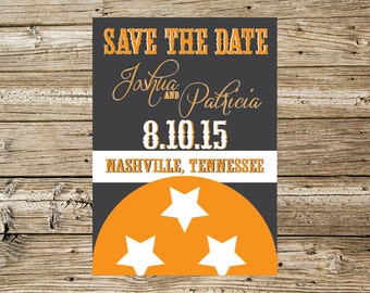 Tennessee Tristar Save the Date announcement