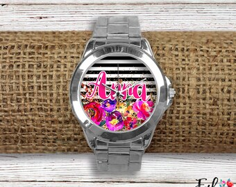 Personalized Floral Watch