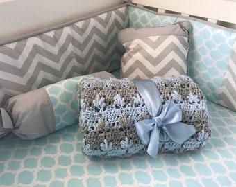 Baby gift crochet blanket for boy or girl Baby Shower