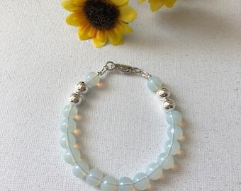 Moonstone Beaded Bracelet  - Ladies