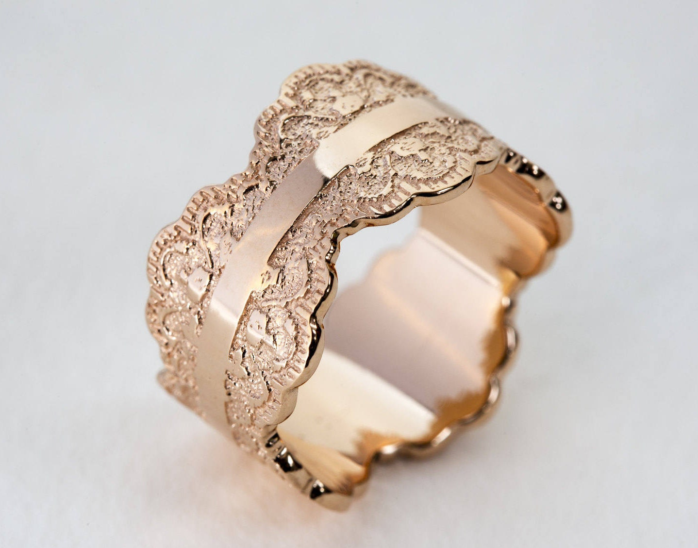 Rose Gold Wedding Band Rose Gold Band Womens Wedding Band