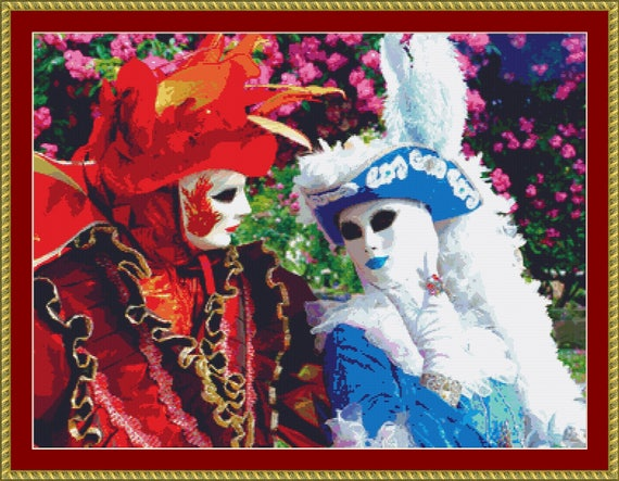 At The Carnival Cross Stitch Pattern /Digital PDF Files /Instant downloadable