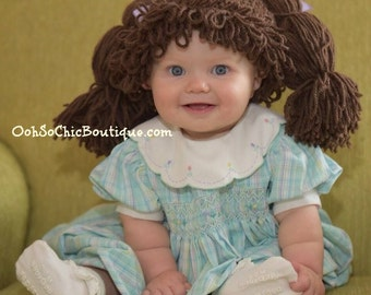 Cabbage Patch Kid Wig, Cabbage Patch Costume, Baby costume, Costumes for kids, Cabbage patch inspired hat, Dress up hats for kids, Baby Wigs