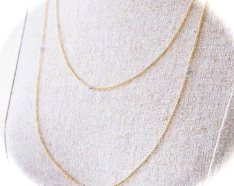 Diamonds by the yard necklace station extra long layer double wrap chain