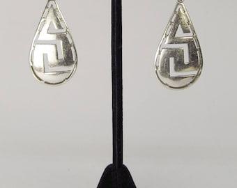 Sterling Openwork hanging earrings