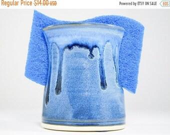 ON SALE Ceramic Sponge Dish - Sink Organizer - Pottery Sponge Dish - Kitchen Holder - Letter Holder -Pottery Spongeholder -Sponge Organizer