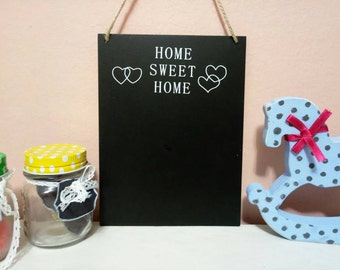 Chalkboard Sign, Rustic Chalkboard,House chalkboard, Home Decor, Gift, Home Sweet Home Decoe Decor, Home Board, Hanging Decor,  wall hanging