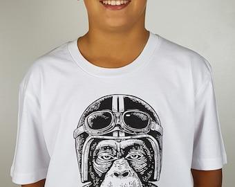 Monkey Biker  Kids/Youth T-Shirt