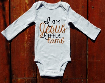 I Am Jesus' Little Lamb Onesie