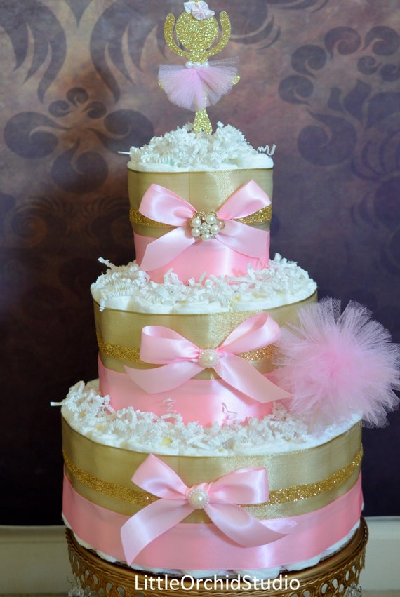 pink and gold baby shower cake items similar to pink and gold baby shower princess 6554