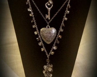 After Life Accessories: Handmade Hard Love Layered Necklace