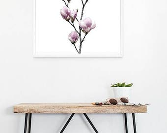 Magnolia Wall Art, Spring Magnolia Print, Instant download Print, Printable Decor, Digital Download, Printable Art, Instant download