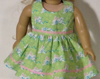 Easter Bunny Dress for 18 inch Doll