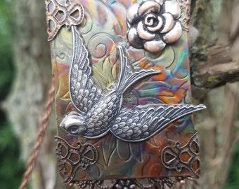 Bird Copper Necklace