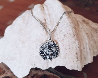Afro Fantasy Necklace Silver