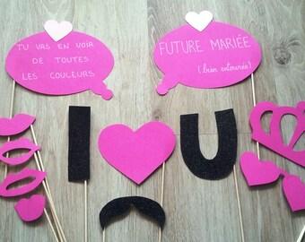 Accessories photobooth x 12 Bachelor bachelorette party, bachelorette party, bachelorette party
